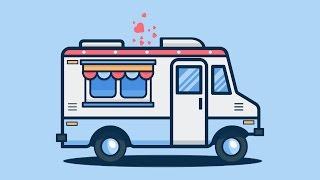 Illustrator Tutorial : Design An Ice Cream Truck illustration