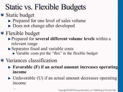 what is a static budget A static budget is a budget that does not change as volume changes if a company's annual master budget is a static budget, the budget for sales commissions expense.