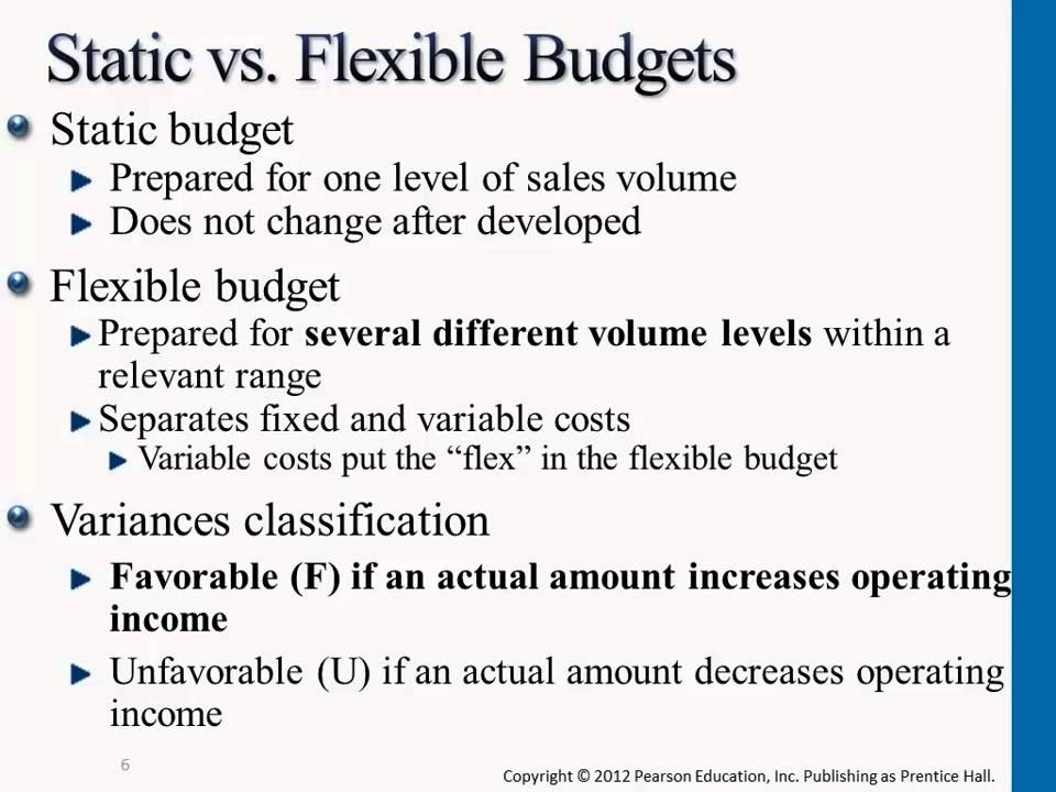 Static vs Flexible Budgets - Managerial Accounting - YouTube