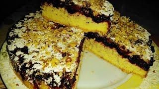 Обалденный пирог с черникой и е́штой