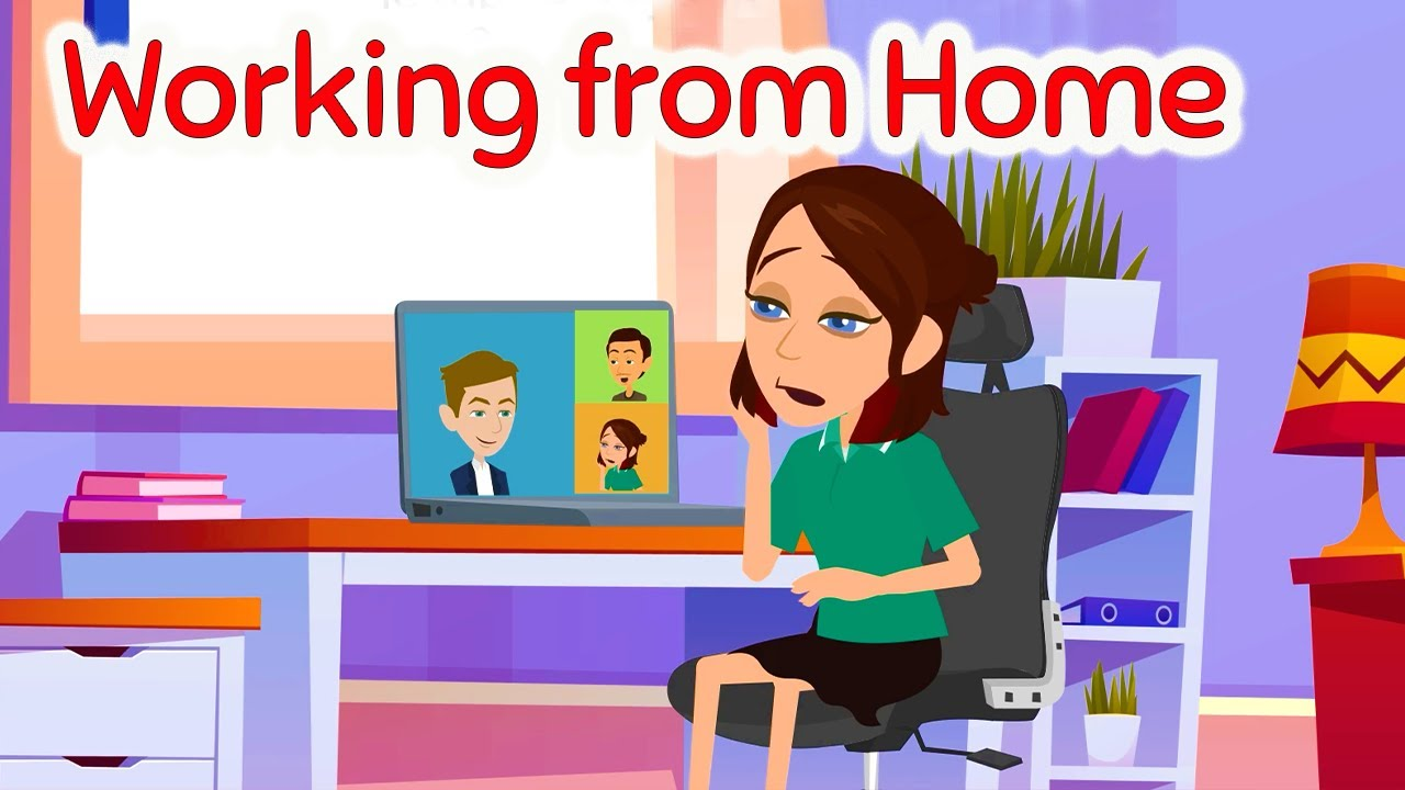 Download Working from home -  Learn English Speaking Conversation with Subtitles