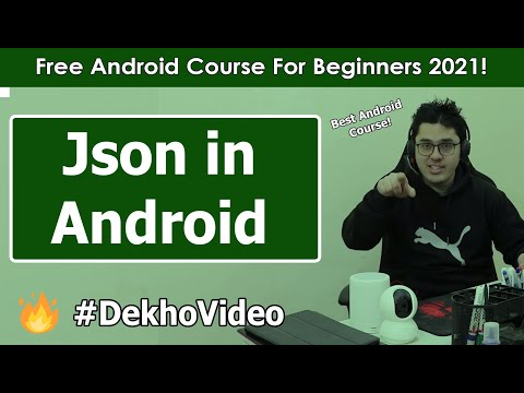Retrieve & Parse JSON Data from Web URL in Android | Android Tutorials in Hindi #19 thumbnail