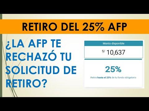 Retiro del 25% AFP| ¿La AFP rechazó tu solicitud?