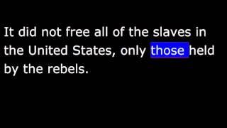 American History - Part 100 - Lincoln - British shun South - Emancipation Proclamation
