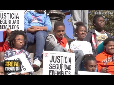 Black and Latino Youth demand Police Reform