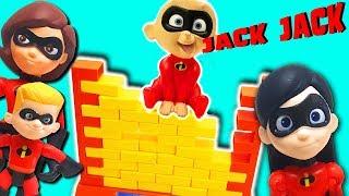 Incredibles 2 Movie Wall Game! Featuring Mr. Incredible, Elastigirl, Violet, Dash, and Jack Jack!