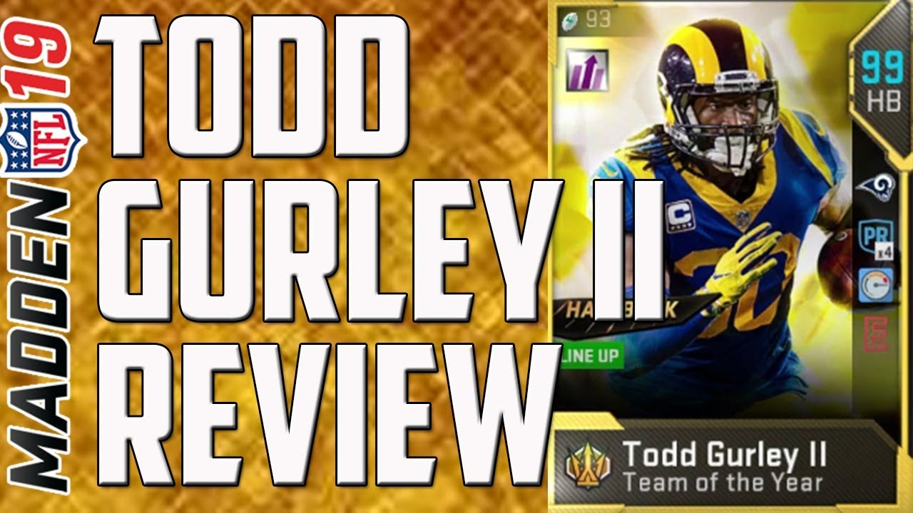How Good Is 99 Overall Toty Todd Gurley Ii Madden 19 Ultimate Team Player Review Youtube