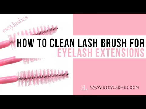 How to Clean Lash Brush for Eyelash Extensions