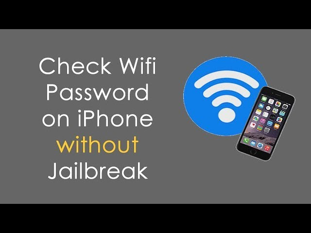 3 Ways to Show Saved Wi-Fi Password on iPhone/iPad