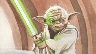 Video FREE Art Lesson Painting Yoda from Star Wars download MP3, 3GP, MP4, WEBM, AVI, FLV November 2017