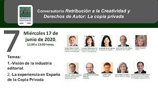 7ma Conversatorio Retribución a la Creatividad y Derechos de Autor: La copia privada |Sergio Mayer