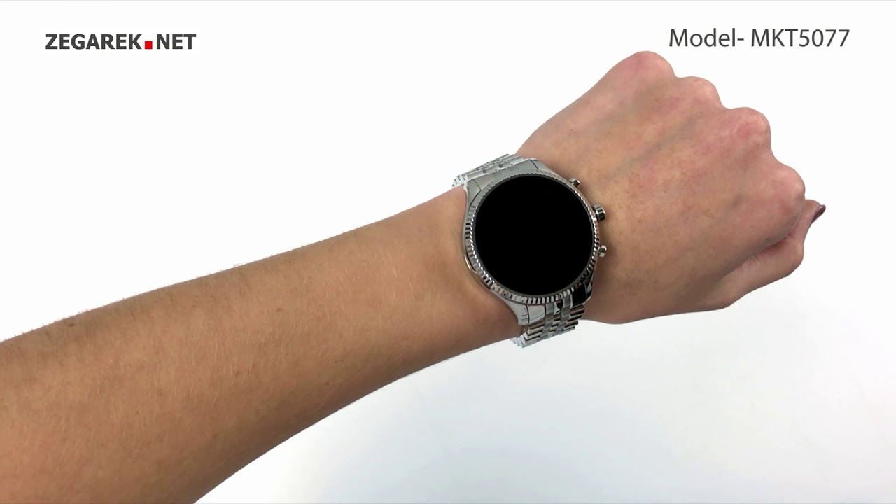 Michael Kors Access Smartwatch MKT5077 Lexington 2 Silver Tone Smartwatch
