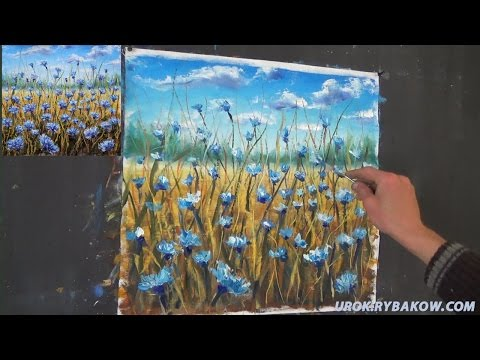 Free FULL oil painting lesson - how to paint FLOWERS!