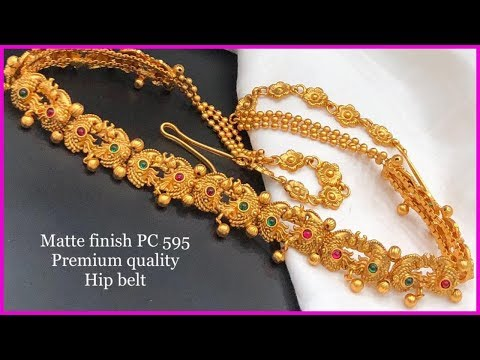 Mate Finish Hip Belts Buy Online || Buy 1 Gram  Gold Jewellery Online