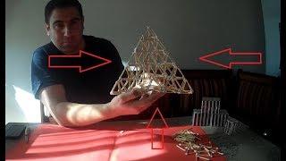 Kibritten 3 Boyutlu Piramit Yapımı (Kibritten Piramit)