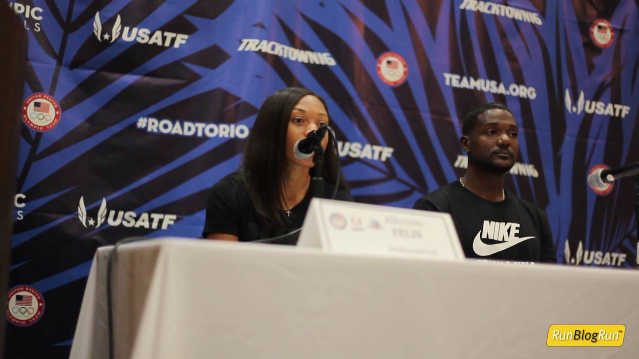 Allyson Felix @ 2016 Olympic Trials Press Conference