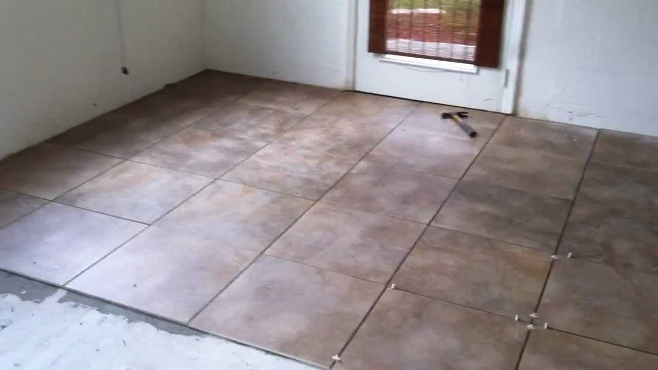 garage floor ceramic tiles.  Garage Renovation Update YouTube