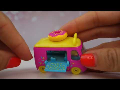 New Shopkins Cutie Cars Single pack, Donut Express and Ice Cream Dream Car Toys Review and Unboxing