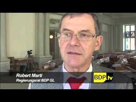 BDP Regierungsrat Robert Marti bestätigt.