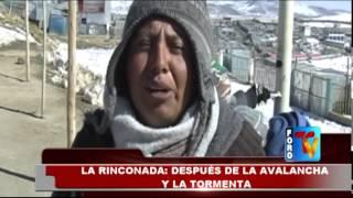LA RINCONADA DESPUES DE LA AVALANCHA Y LA TORMENTA