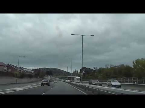 Driving through Colwyn Bay Conwy Wales UK A55 Expressway