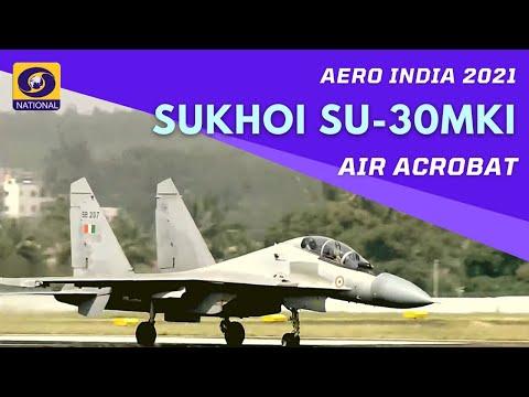 AIR Maneuver by Sukhoi Su-30MKI - multirole air superiority fighter at Aero India Show 2021
