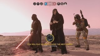 Star Wars Battlefront All Villains Gameplay (Boba Fett, Emperor Palpatine and Darth Vader)