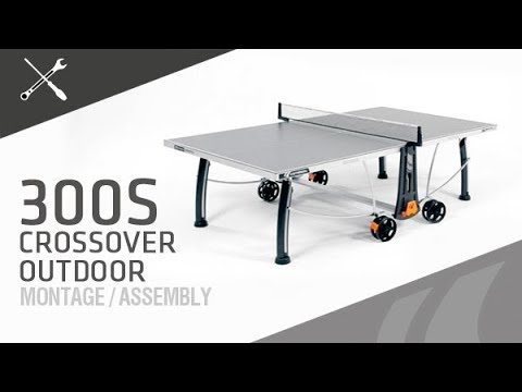 Montage table de ping-pong Cornilleau 300S Crossover outdoor - YouTube ceb2b95aa048