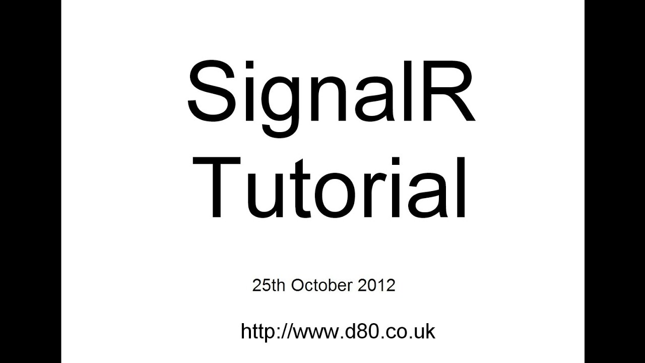 SignalR with KnockoutJs Tutorial