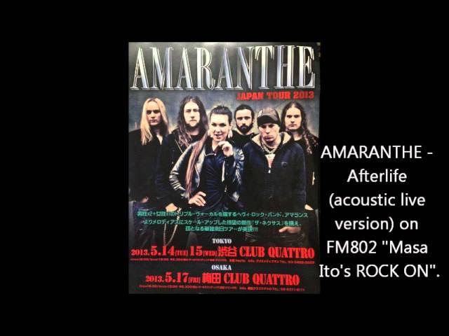 Amaranthe Afterlife Acoustic Live Version Chords Chordify