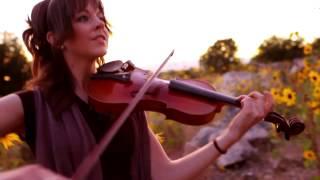 Красивая игра на скрипке и арфе