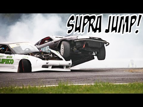 THE CRAZIEST SUPRA DRIFT OVER 240SX!