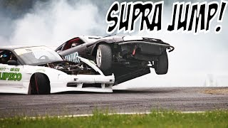 THE CRAZIEST SUPRA DRIFT OVER 240SX!