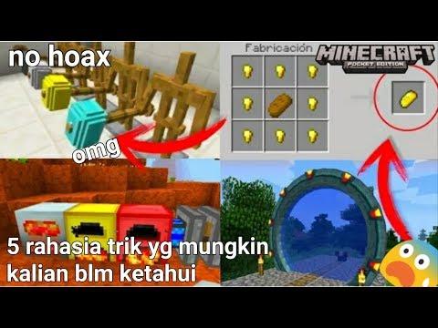 5 rahasia trik yg mungkin kalian blm ketahui di minecraftPE !
