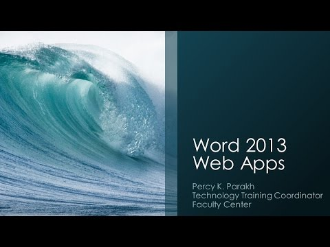 Word 2013 Web Apps