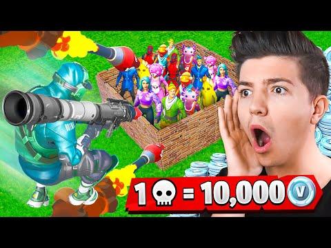 1 Kill = 10,000 VBucks with FRESH! - Fortnite Challenge