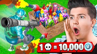 1 Kill = 10,000 VBucks with FRESH! - Fortnite Challenge