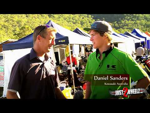 Daniel Sanders is flying the flag hard and fast for Kawasaki in the AORC