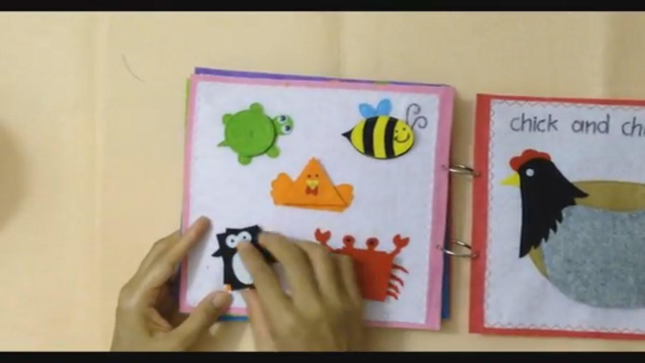 Quiet book for kid animal book quiet books ideas youtube for The idea door quiet book
