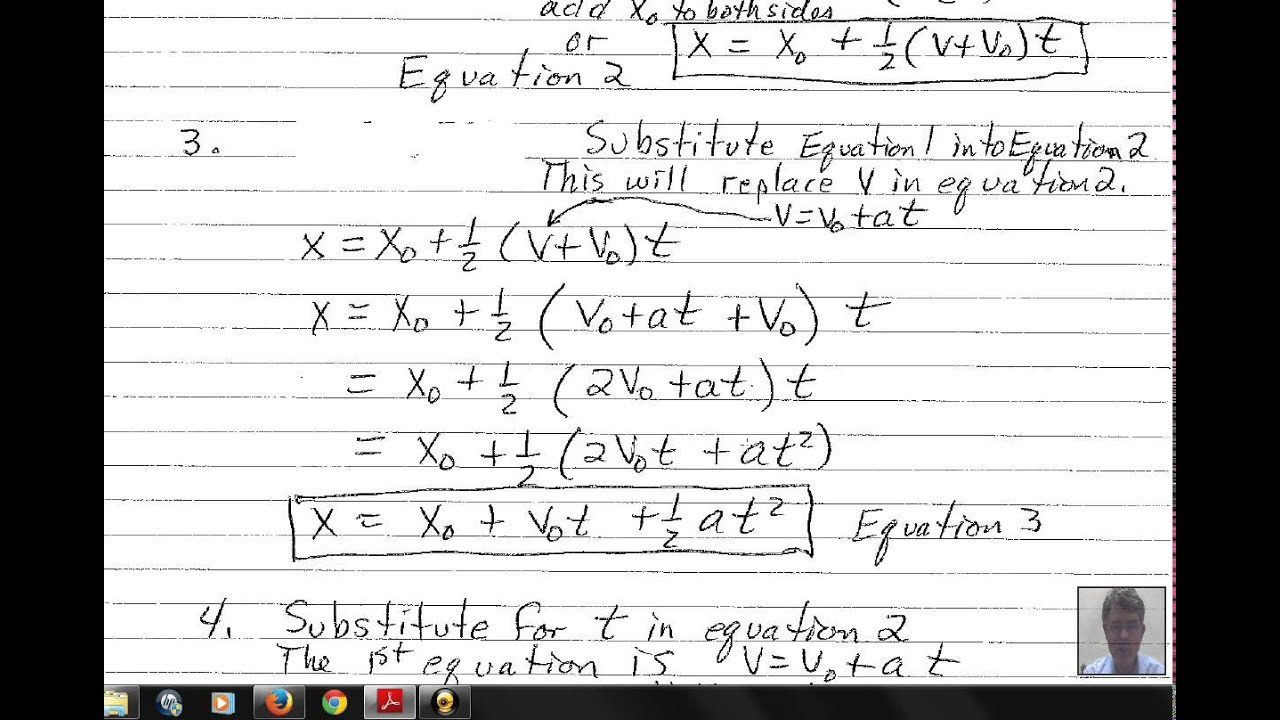 Physics Kinematics Equations Constant Acceleration