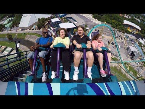 MAKO Hyper Roller Coaster at SeaWorld Orlando, Multi-Cam POV 1080p - Tons of Air Time!