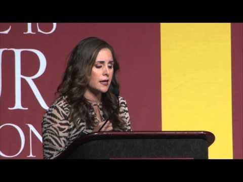 Karyme Lozano at the World Meeting of Families Pro-Life Symposium