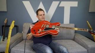 LIVE: Eastman T386 (ES-335 style guitar) unboxing and initial impressions