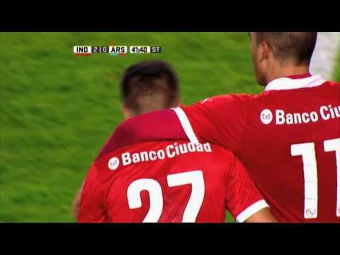Gol de Rodrigo Gómez. Independiente 2 - Arsenal 0. Fecha 15. Primera División 2016