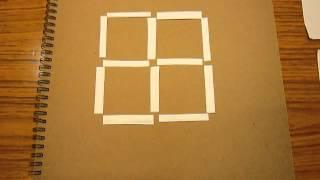 クイズ 棒を3本動かして正方形を3つにしてね つまようじ60本 検索動画 27