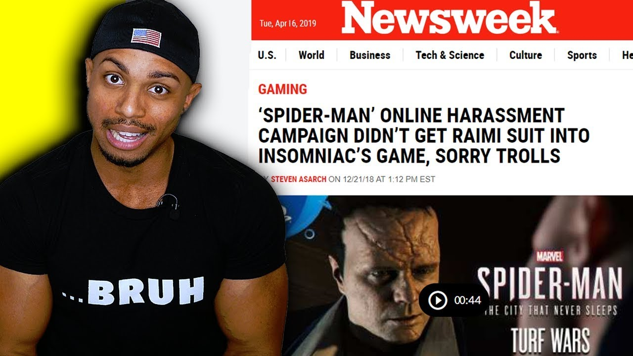 213dacdc Newsweek Labels Me ALT RIGHT In Spider-Man PS4 Controversy
