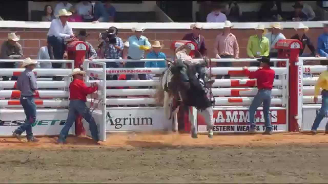 Day 1 Rodeo Highlight Action From The Calgary Stampede