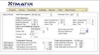 Xtmatix Estimating Demo 2