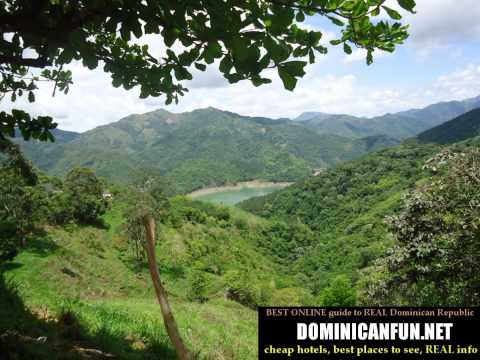 Lakes and mountains in Dominican Republic