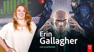 Live Illustration with Erin Gallagher - Day3 AdobeLive